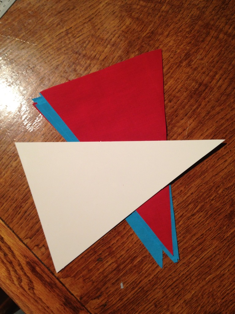ABS cutting template and pennants