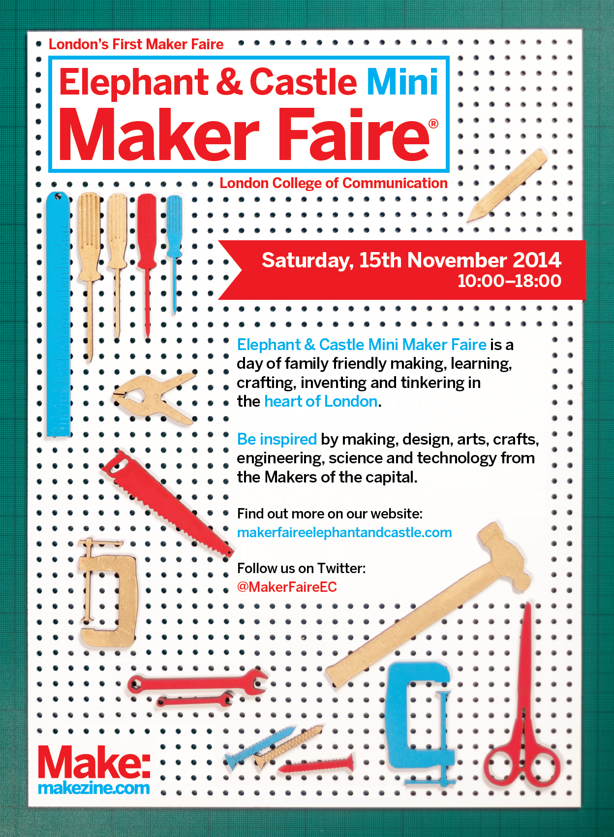On the cutting mat today… elephant castle mini maker faire